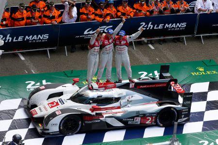 Audi #2 Marcel Fässler/André Lotterer/Benoît Tréluyer Le Mans 2014