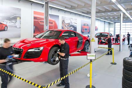 Audi R8 e-tron Produktion