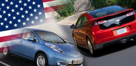 US-Verkaufszahlen Chevrolet Volt & Nissan Leaf