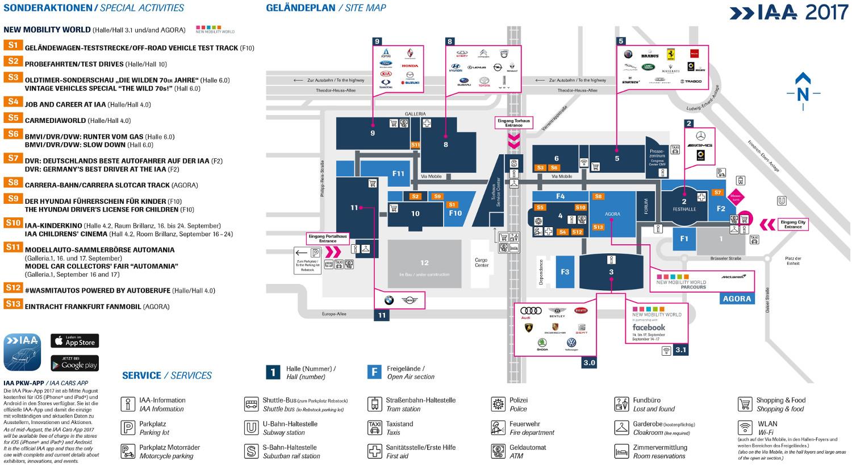 IAA 2017 Lageplan