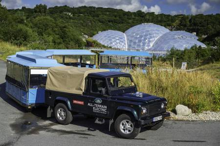 Land Rover All Electric Defender Eden Project