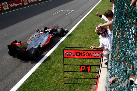 Jenson Button siegt in Belgien/Spa 2012