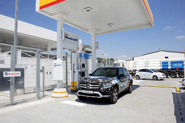 Mercedes GLC F-Cell H2 Tankstelle