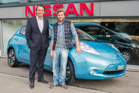 Nick Heidfeld Nissan Leaf