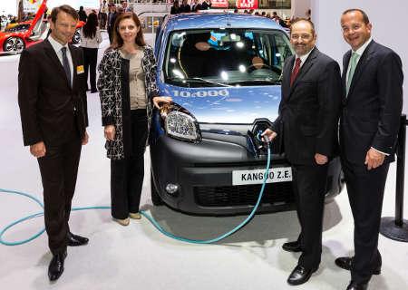 Renault Kangoo Z.E. 10.000 verkaufte Modelle