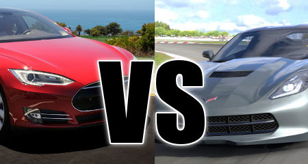 Tesla Model S vs Corvette C7