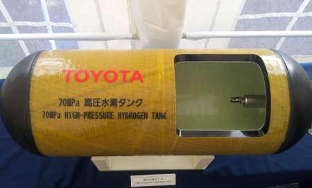 Toyota FCV/Mirai 2015 Wasserstofftank