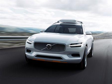 volvo xc90 2015 neue generation als hybrid elektroauto. Black Bedroom Furniture Sets. Home Design Ideas