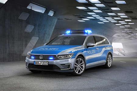 VW Passat GTE Polizeifahrzeug